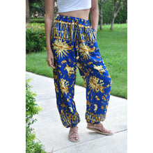 Load image into Gallery viewer, Tie dye Unisex Drawstring Genie Pants in Bright Navy PP0110 020055 05