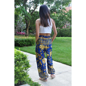 Tie dye Unisex Drawstring Genie Pants in Bright Navy PP0110 020055 05