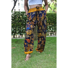 Load image into Gallery viewer, Cartoon elephant Unisex Drawstring Genie Pants in Navy PP0110 020061 01