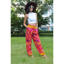 Load image into Gallery viewer, Cartoon elephant Unisex Drawstring Genie Pants in Lilac PP0110 020061 06