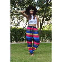 Load image into Gallery viewer, Funny Stripes Unisex Drawstring Genie Pants in Navy PP0110 020063 04