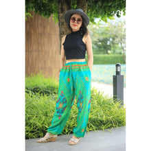 Load image into Gallery viewer, Big eye Unisex Drawstring Genie Pants in Green PP0110 020065 05