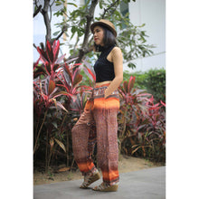 Load image into Gallery viewer, Tribal dashiki Unisex Drawstring Genie Pants in Orange PP0110 020066 02