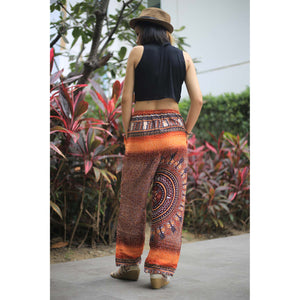 Tribal dashiki Unisex Drawstring Genie Pants in Orange PP0110 020066 02