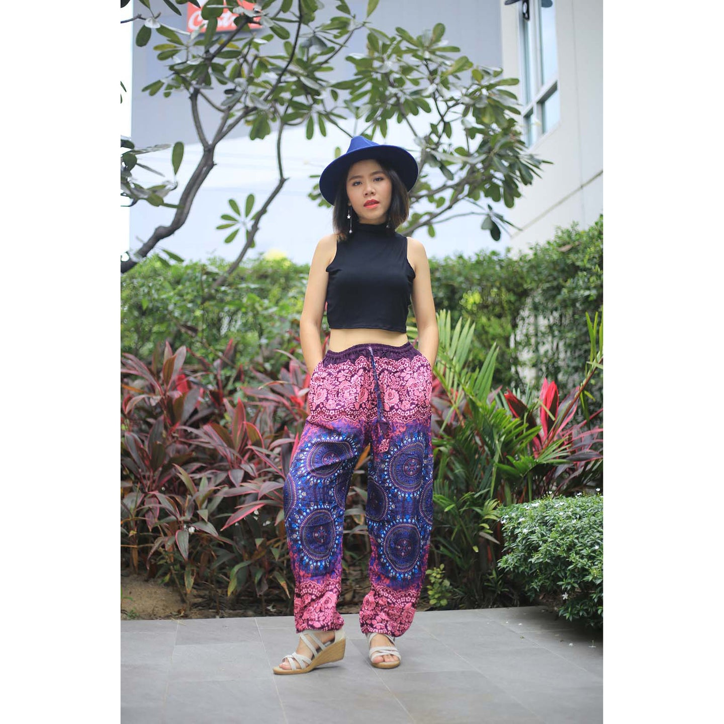 Clock nut Unisex Drawstring Genie Pants in Navy PP0110 020067 02