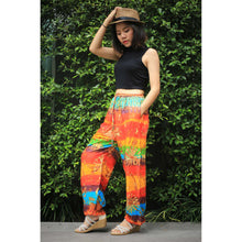 Load image into Gallery viewer, Tie dye Unisex Drawstring Genie Pants in Yellow PP0110 020069 05