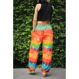 Tie dye Unisex Drawstring Genie Pants in Yellow PP0110 020069 05