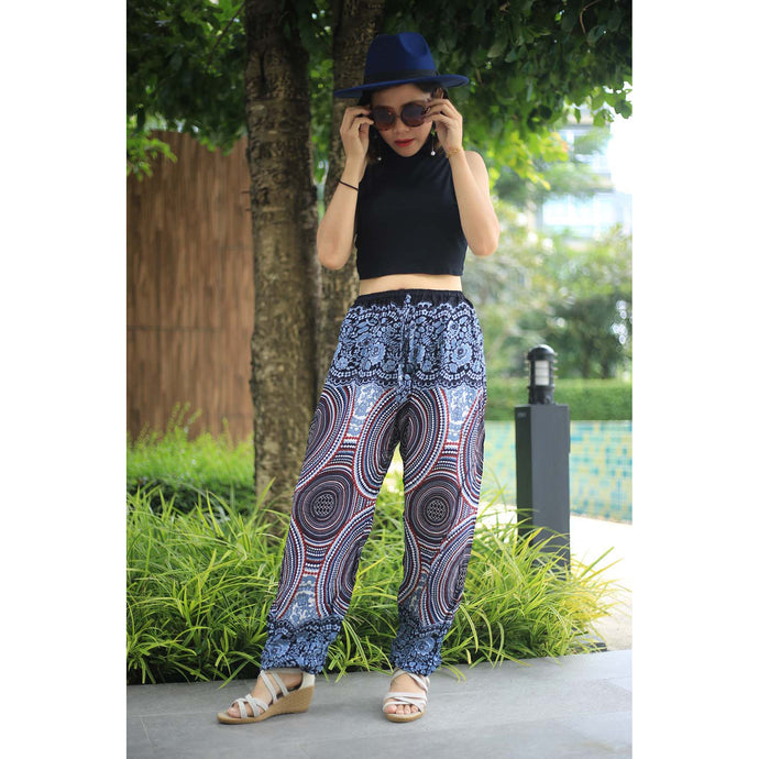 Abstract mandala Unisex Drawstring Genie Pants in White PP0110 020075 01