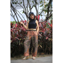 Load image into Gallery viewer, Abstract mandala Unisex Drawstring Genie Pants in Green PP0110 020075 05