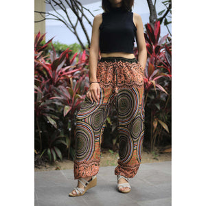 Abstract mandala Unisex Drawstring Genie Pants in Green PP0110 020075 05