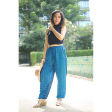 Load image into Gallery viewer, Zebra Unisex Drawstring Genie Pants in Ocean Blue PP0110 020077 01