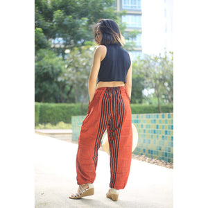 Zebra Unisex Drawstring Genie Pants in Orange PP0110 020077 05