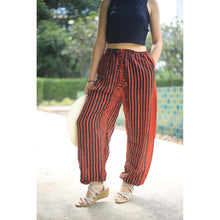 Load image into Gallery viewer, Zebra Unisex Drawstring Genie Pants in Orange PP0110 020077 05