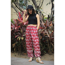 Load image into Gallery viewer, Lovely Heart Unisex Drawstring Genie Pants in Red PP0110 020078 02