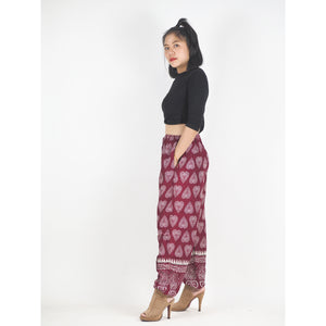 Lovely Heart Unisex Drawstring Genie Pants in Red PP0110 020078 02