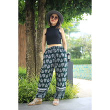 Load image into Gallery viewer, Lovely Heart Unisex Drawstring Genie Pants in Green PP0110 020078 04