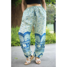 Load image into Gallery viewer, Elephant parade Unisex Drawstring Genie Pants in Green PP0110 020080 04