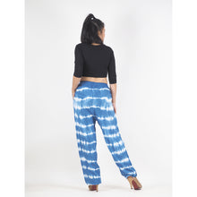 Load image into Gallery viewer, Tie Dye Unisex Drawstring Genie Pants in Blue PP0110 029000 02