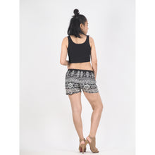 Load image into Gallery viewer, Urban Print Women's Shorts Drawstring Genie Pants in Black PP0142 020001 01