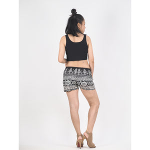 Urban Print Women's Shorts Drawstring Genie Pants in Black PP0142 020001 01