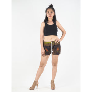 Peacock Eye Women's Shorts Drawstring Genie Pants in Brown PP0142 020003 03