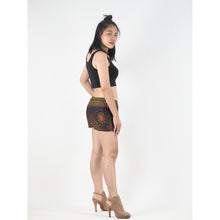 Load image into Gallery viewer, Peacock Eye Women's Shorts Drawstring Genie Pants in Brown PP0142 020003 03