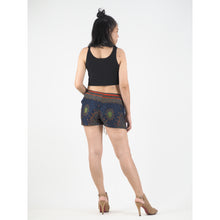 Load image into Gallery viewer, Peacock Eye Women's Shorts Drawstring Genie Pants in Navy PP0142 020003 05