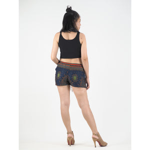 Peacock Eye Women's Shorts Drawstring Genie Pants in Navy PP0142 020003 05
