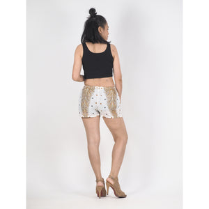 Peacock Women's Shorts Drawstring Genie Pants in White PP0142 020008 07