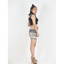 Load image into Gallery viewer, Cute elephant Women's Shorts Drawstring Genie Pants in Black PP0142 020027 04