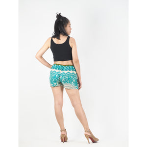 2 Tone Mandala Women's Shorts Drawstring Genie Pants in Ocean Green PP0142 020032 06
