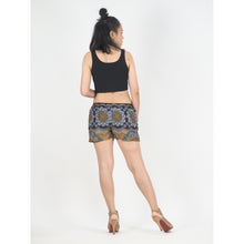Load image into Gallery viewer, Mandala Women's Shorts Drawstring Genie Pants in Black PP0142 020114 05