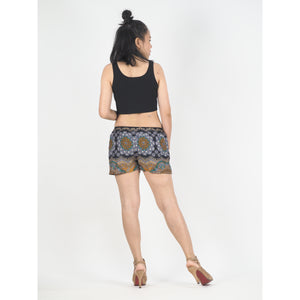 Mandala Women's Shorts Drawstring Genie Pants in Black PP0142 020114 05
