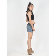 Load image into Gallery viewer, Rose Bushes Women's Shorts Drawstring Genie Pants in Black PP0142 020118 01