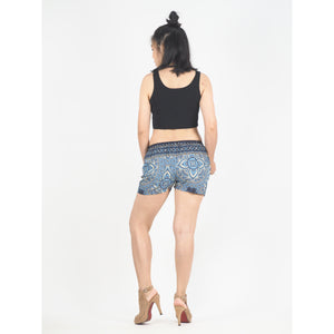 Rose Bushes Women's Shorts Drawstring Genie Pants in Black PP0142 020118 01