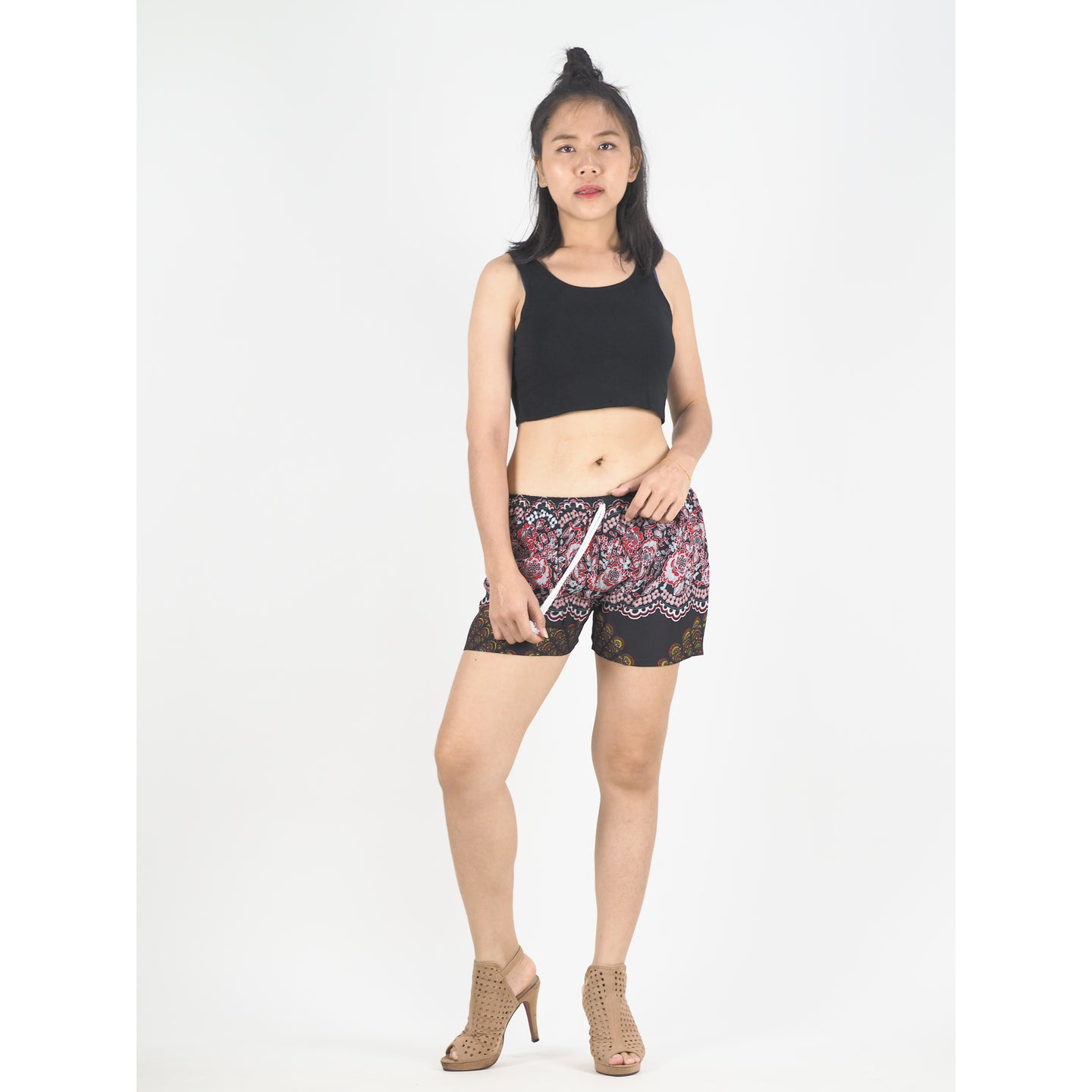 Sunflower Women's Shorts Drawstring Genie Pants in Black PP0142 020164 02