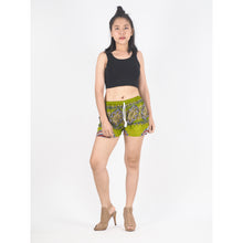 Load image into Gallery viewer, Mandala Women's Shorts Drawstring Genie Pants in Green PP0142 020179 03