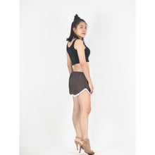 Load image into Gallery viewer, Solid Color Women's Pompom Shorts Pants in Dark Brown PP0228 020000 16