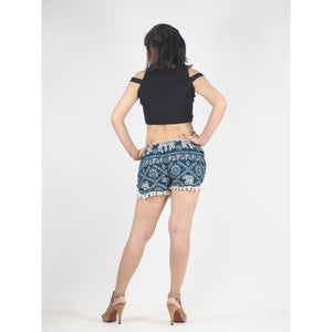 Imperial Elephant Women's Pompom Shorts Pants in Green PP0228 020005 02