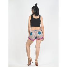 Load image into Gallery viewer, Tone Mandala Women's Pompom Shorts Pantss in Purple PP0228 020032 01