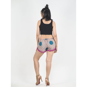 Tone Mandala Women's Pompom Shorts Pantss in Purple PP0228 020032 01