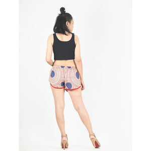 Tone Mandala Women's Mini Pompom Shorts Pants in Red PP0228 020032 02