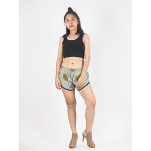 Tone Mandala Women's Mini Pompom Shorts Pants in Ocean Green PP0228 020032 06