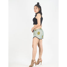 Load image into Gallery viewer, Tone Mandala Women's Mini Pompom Shorts Pants in Ocean Green PP0228 020032 06