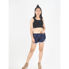 Load image into Gallery viewer, Side Sunflower Women's Pompom Shorts Pants in Navy Blue PP0228 020141 03