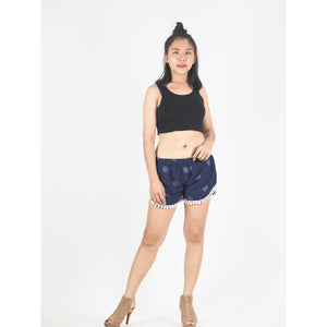 Side Sunflower Women's Pompom Shorts Pants in Navy Blue PP0228 020141 03