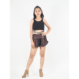 Mandala Women's Blooming Shorts Pants in Black PP0206 020151 06