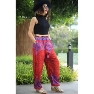 Mandala Unisex Drawstring Genie Pants in Red PP0110 020068 02