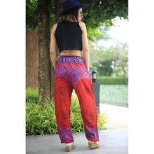 Load image into Gallery viewer, Mandala Unisex Drawstring Genie Pants in Red PP0110 020068 02