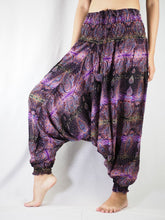 Load image into Gallery viewer, Paisley Buddha Unisex Aladdin drop crotch pants in Purple PP0056 020002 06